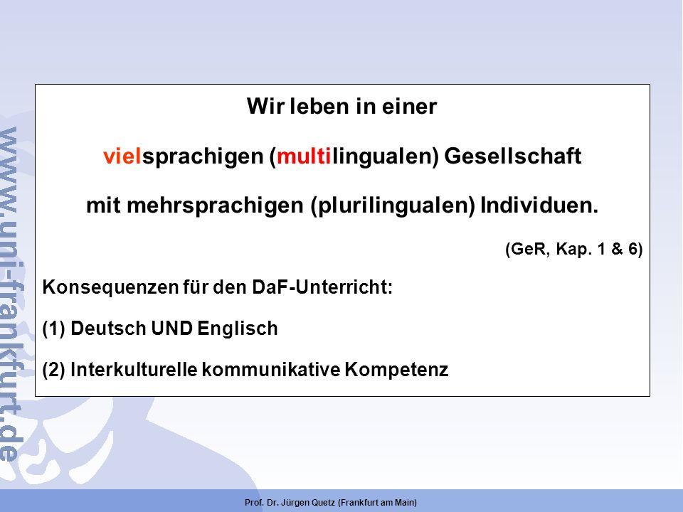vielsprachigen (multilingualen) Gesellschaft