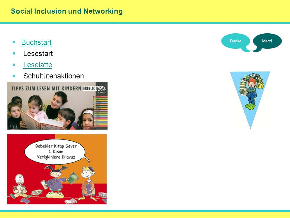 () Social Inclusion und Networking Buchstart Lesestart Leselatte
