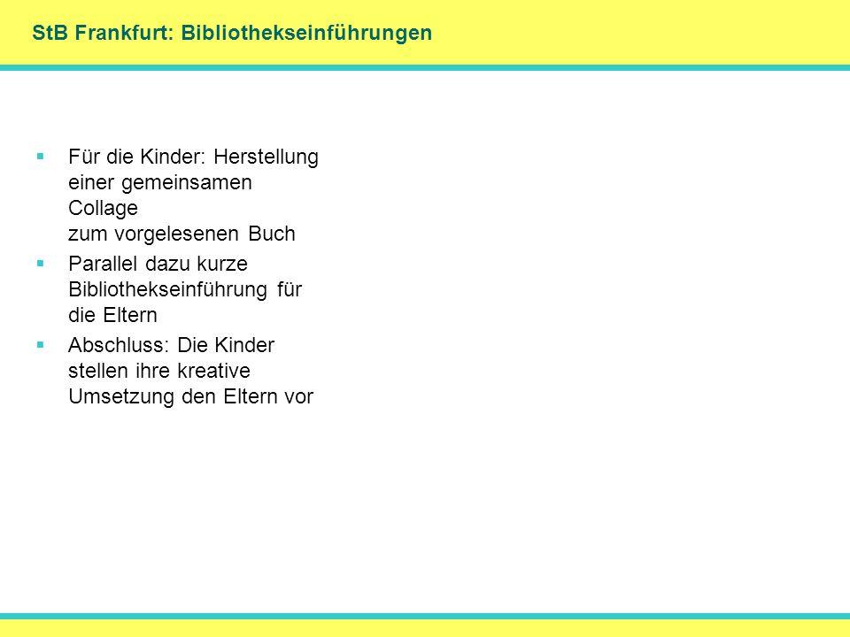 StB Frankfurt: Bibliothekseinführungen
