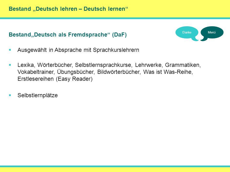 """() Bestand """"Deutsch lehren – Deutsch lernen"""