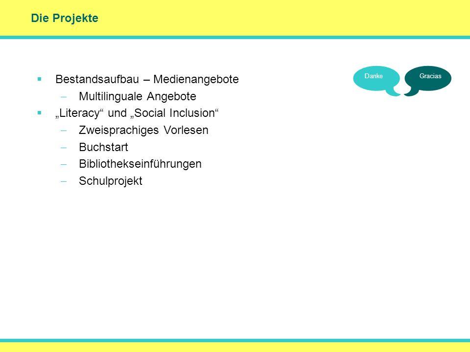 () Die Projekte Bestandsaufbau – Medienangebote Multilinguale Angebote