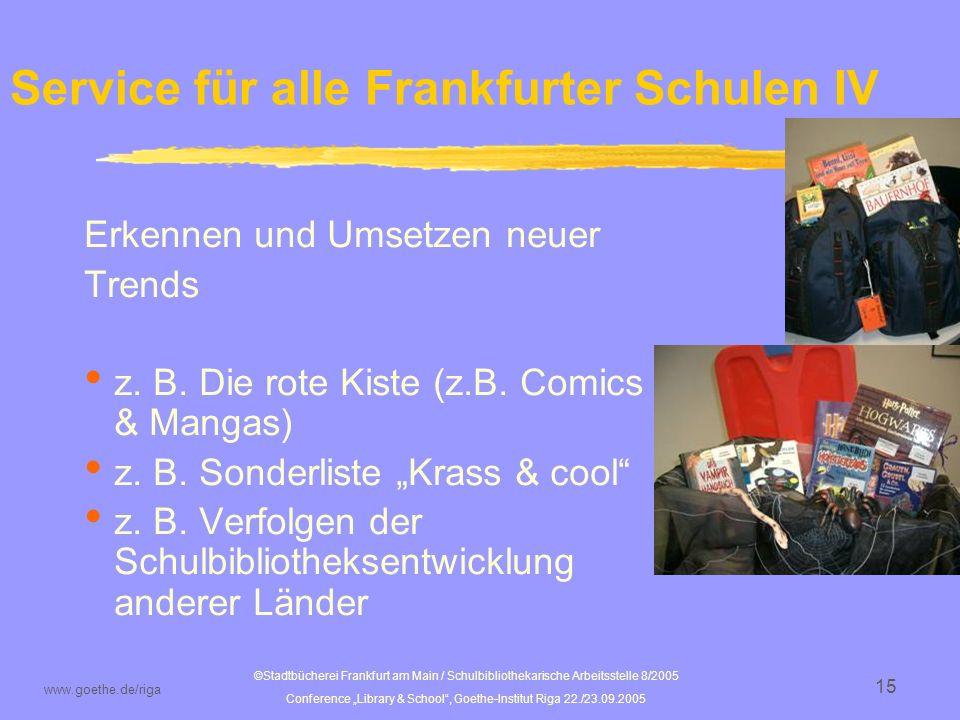 Service für alle Frankfurter Schulen IV