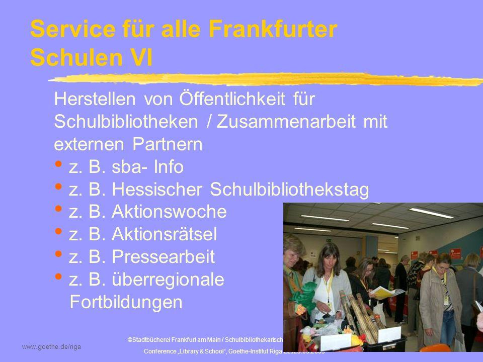 Service für alle Frankfurter Schulen VI