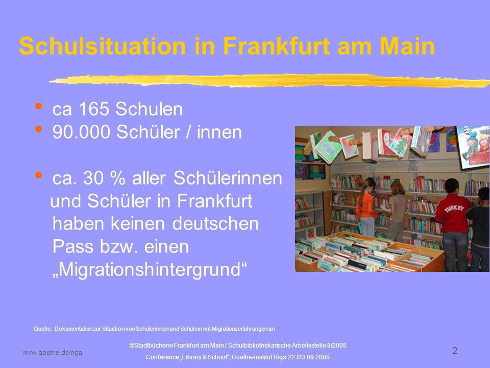 Schulsituation in Frankfurt am Main