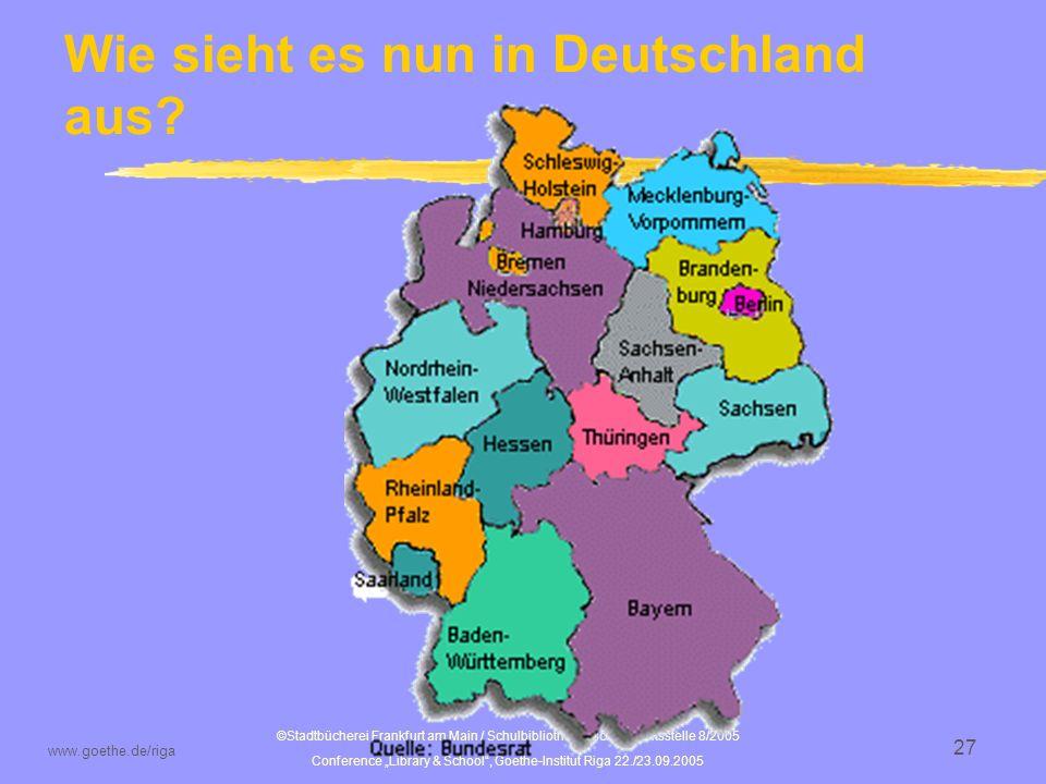 Wie sieht es nun in Deutschland aus