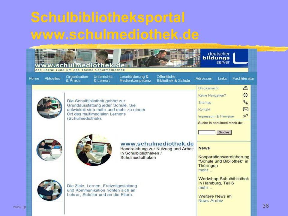 Schulbibliotheksportal www.schulmediothek.de