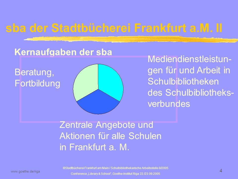 sba der Stadtbücherei Frankfurt a.M. II