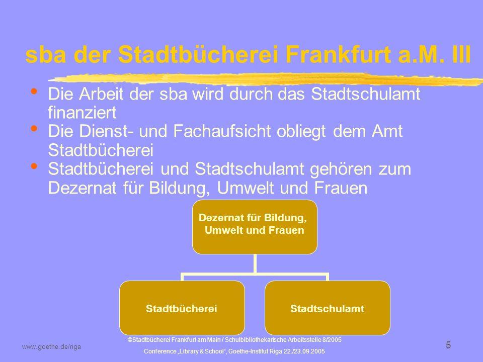 sba der Stadtbücherei Frankfurt a.M. III