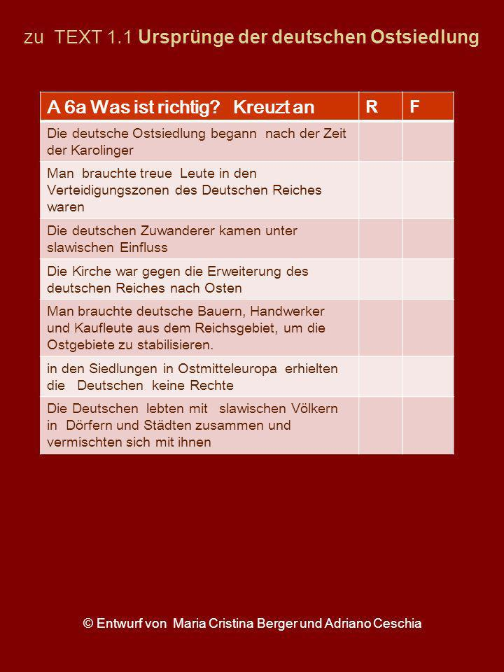 zu TEXT 1.1 Ursprünge der deutschen Ostsiedlung