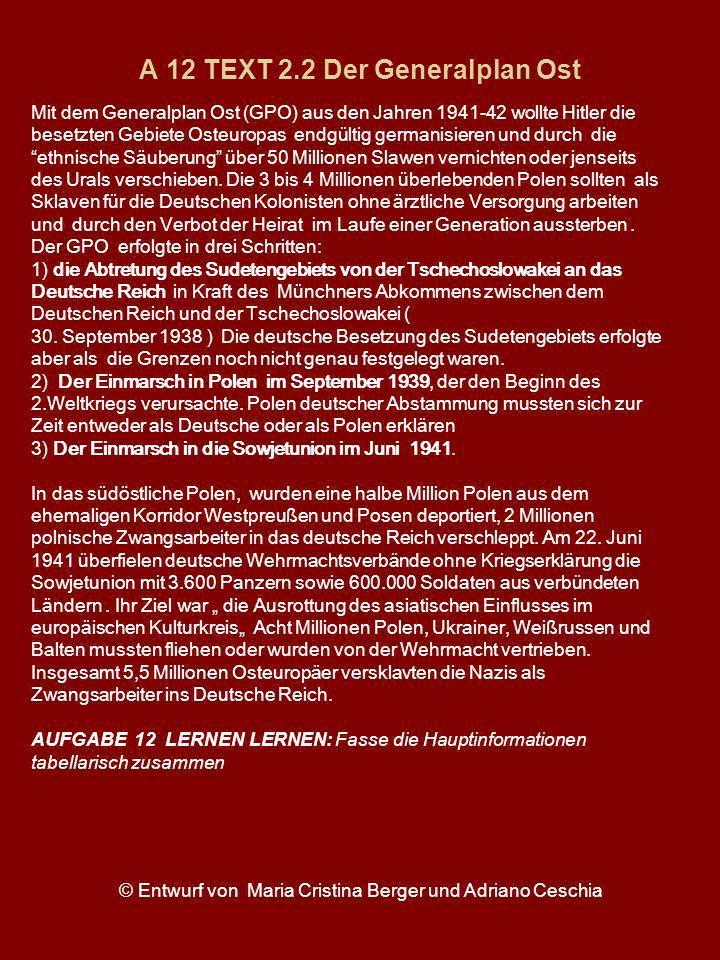 A 12 TEXT 2.2 Der Generalplan Ost