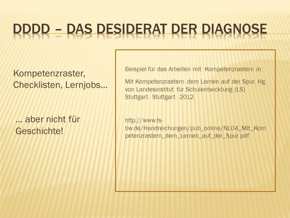 DDDD – Das Desiderat der Diagnose