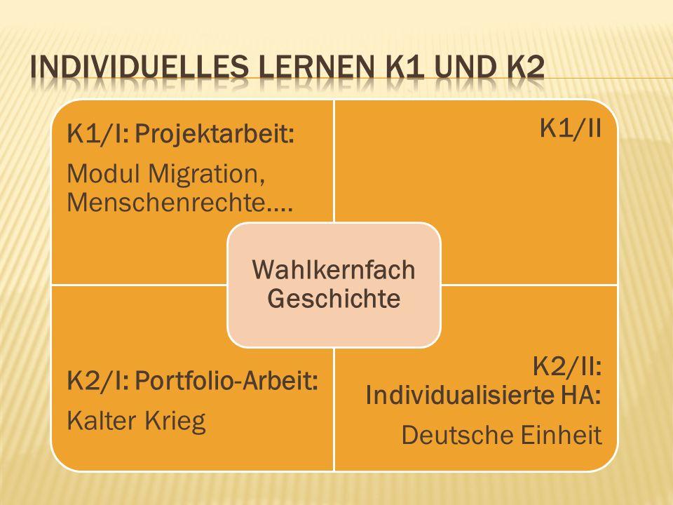 Individuelles Lernen K1 und K2