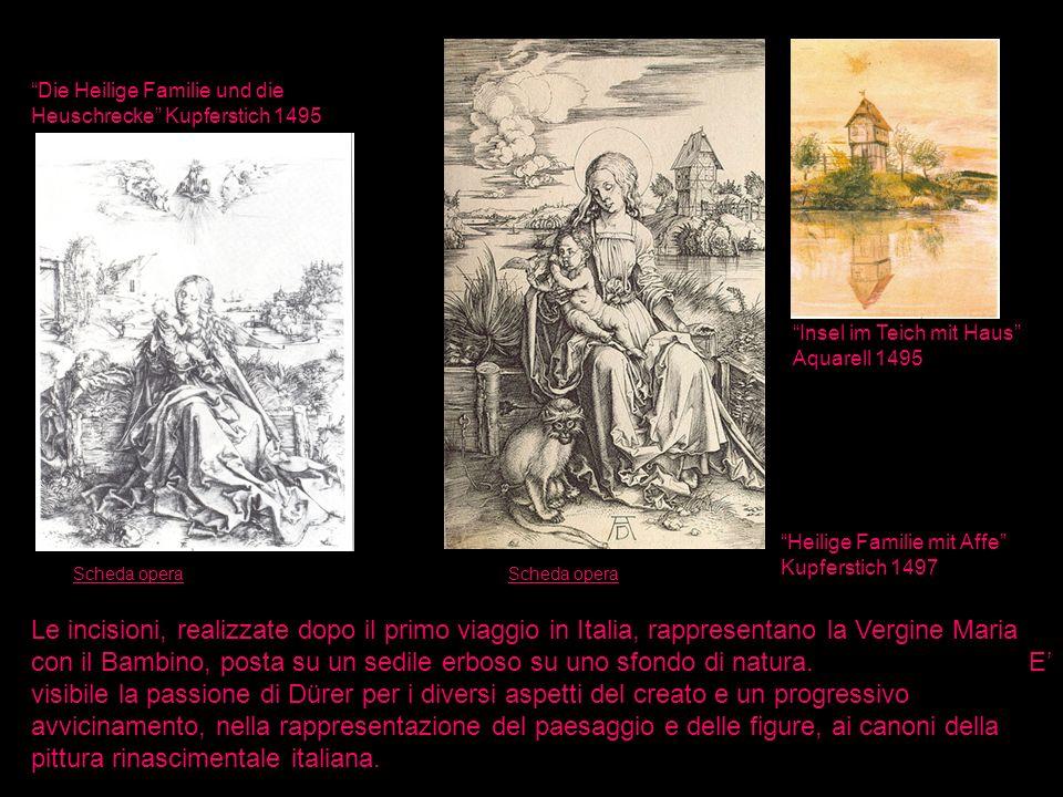Die Heilige Familie und die Heuschrecke Kupferstich 1495