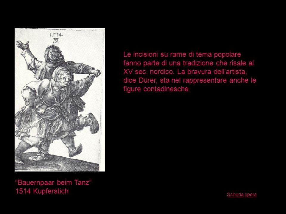 Bauernpaar beim Tanz 1514 Kupferstich