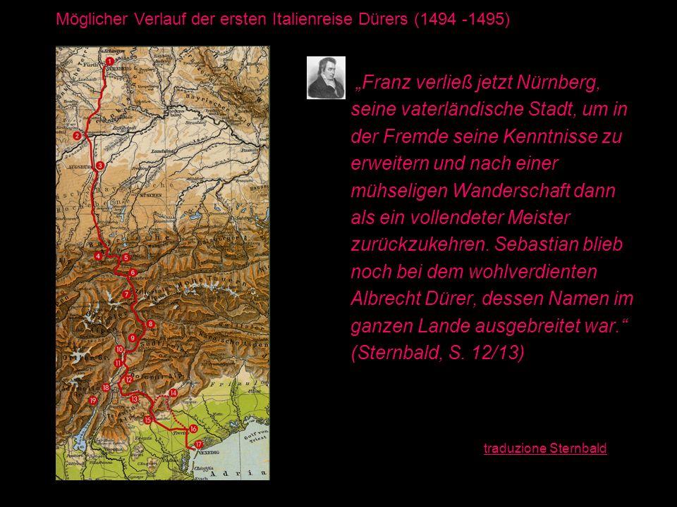 """""""Franz verließ jetzt Nürnberg, seine vaterländische Stadt, um in"""