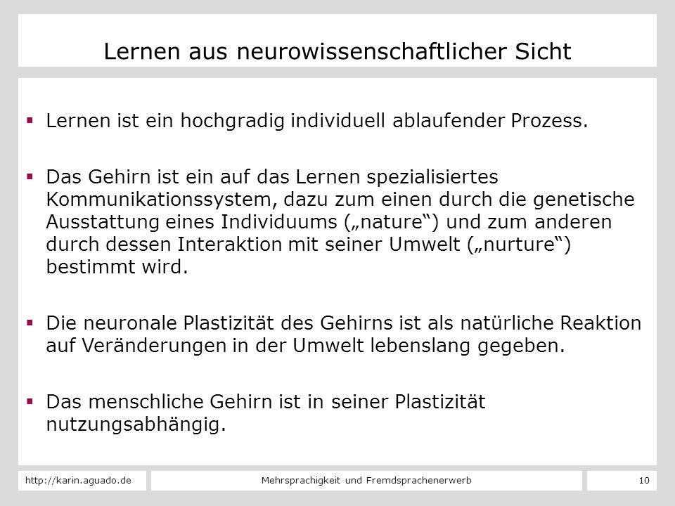 Lernen aus neurowissenschaftlicher Sicht