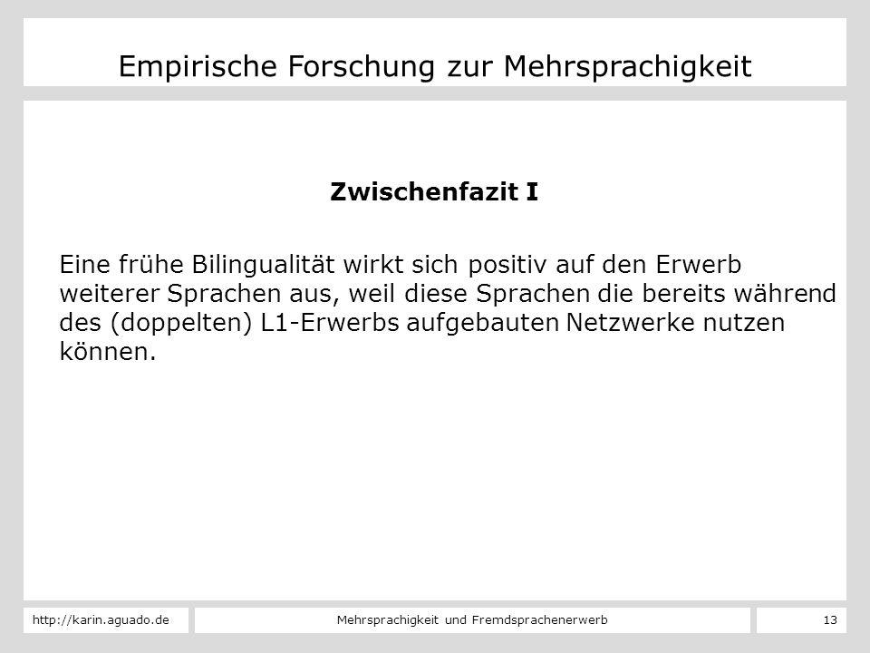 Empirische Forschung zur Mehrsprachigkeit