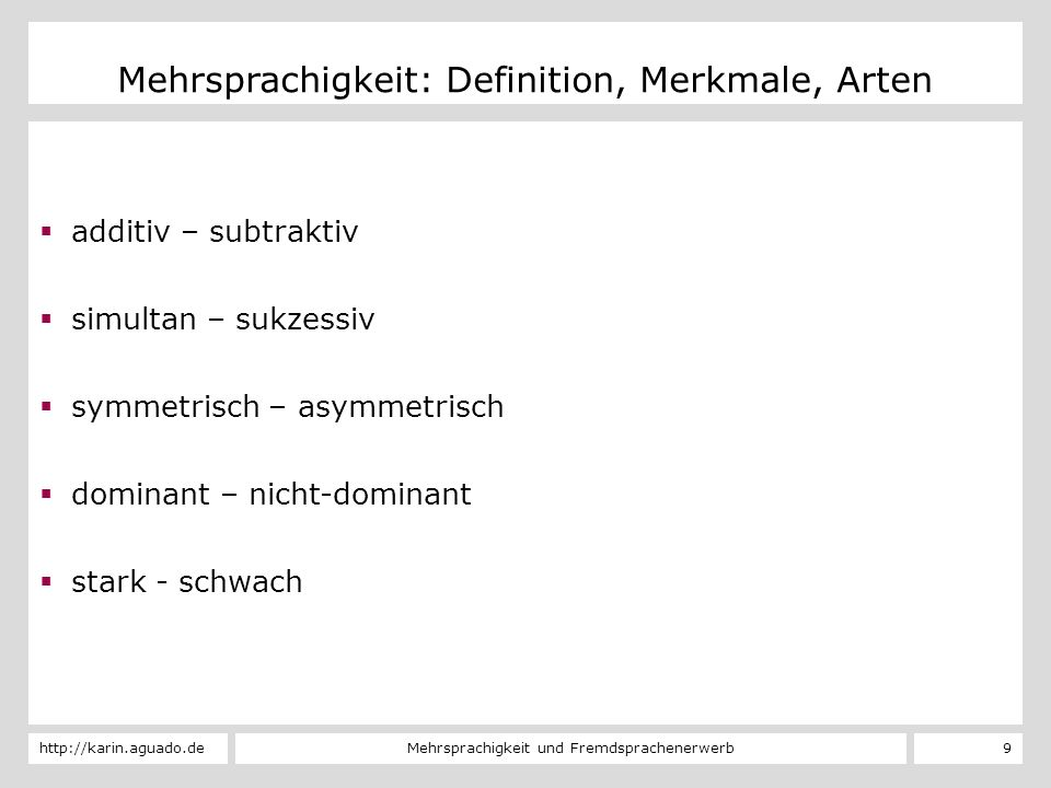 Mehrsprachigkeit: Definition, Merkmale, Arten