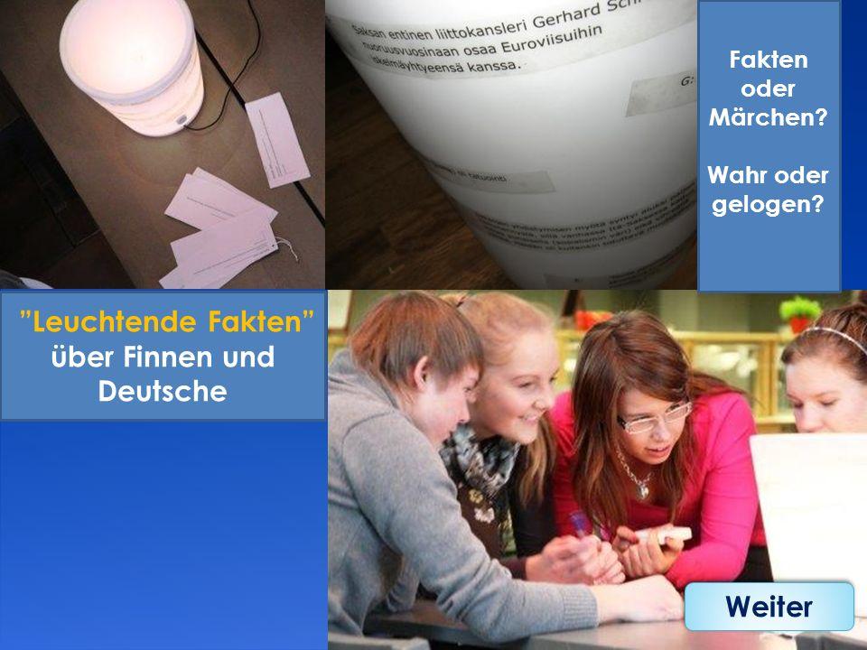 Leuchtende Fakten über Finnen und Deutsche