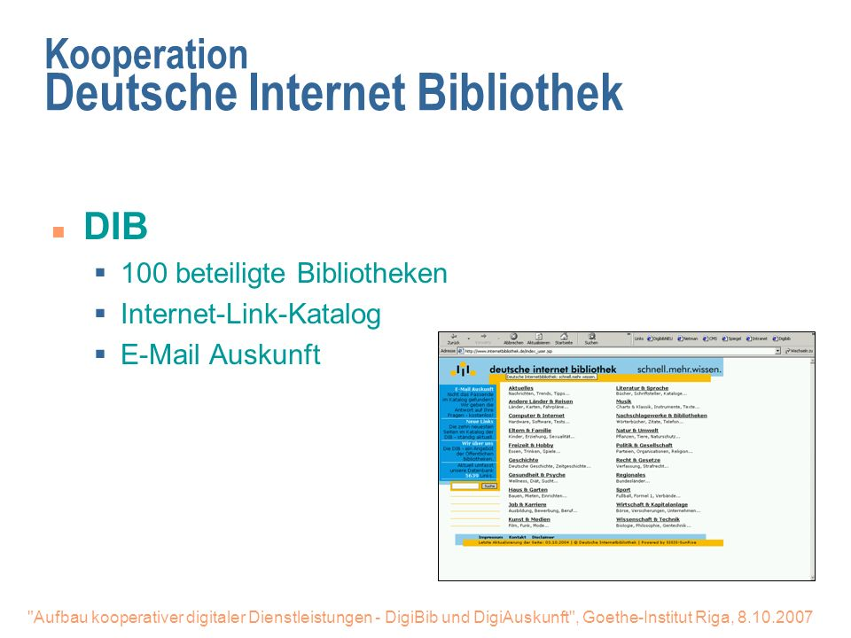 Kooperation Deutsche Internet Bibliothek