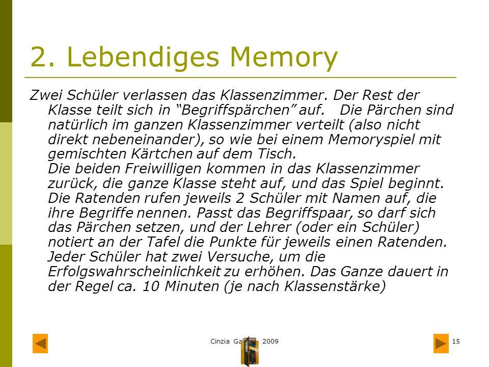 2. Lebendiges Memory