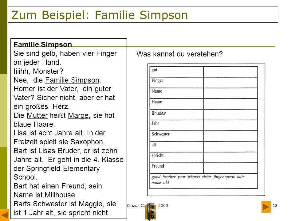 Zum Beispiel: Familie Simpson