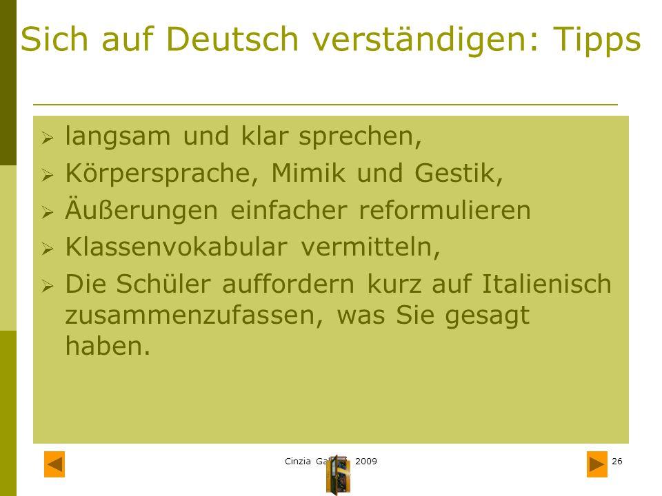 Sich auf Deutsch verständigen: Tipps