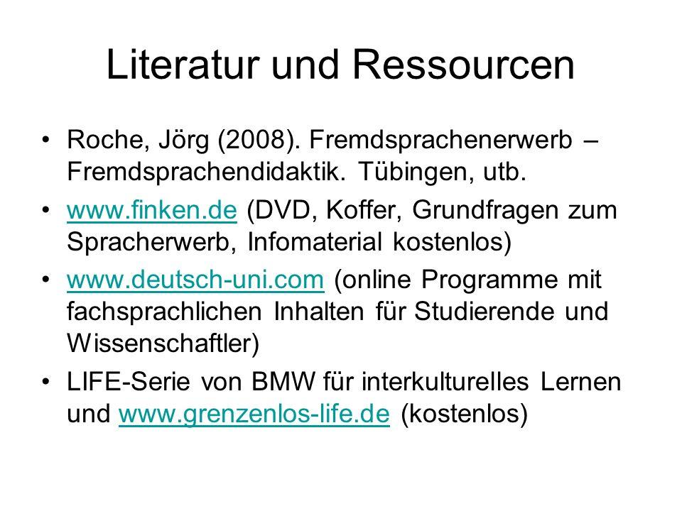 Literatur und Ressourcen