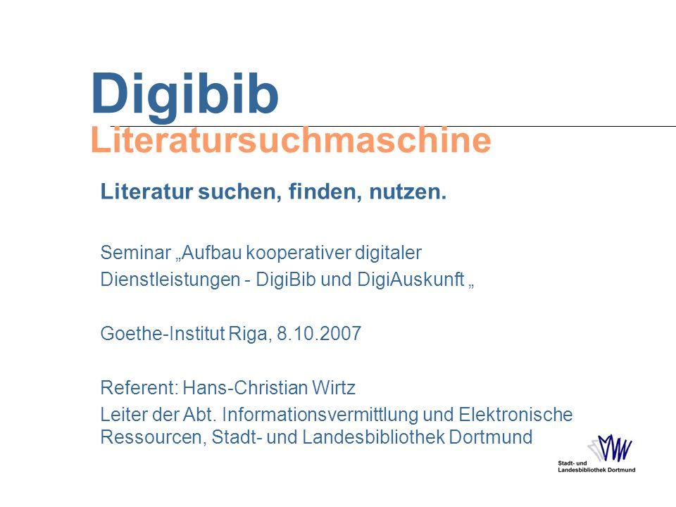 Digibib Literatursuchmaschine