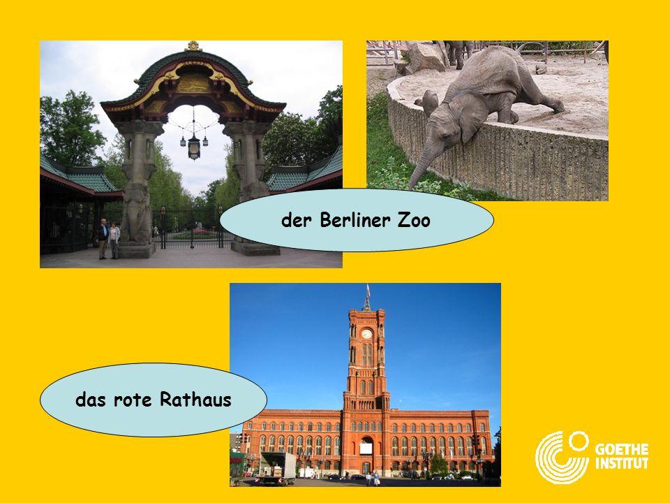 der Berliner Zoo das rote Rathaus