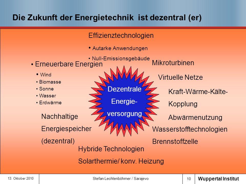 Die Zukunft der Energietechnik ist dezentral (er)