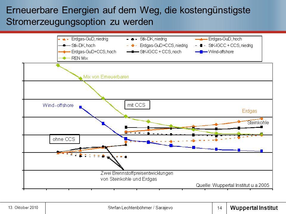 Erneuerbare Energien auf dem Weg, die kostengünstigste Stromerzeugungsoption zu werden