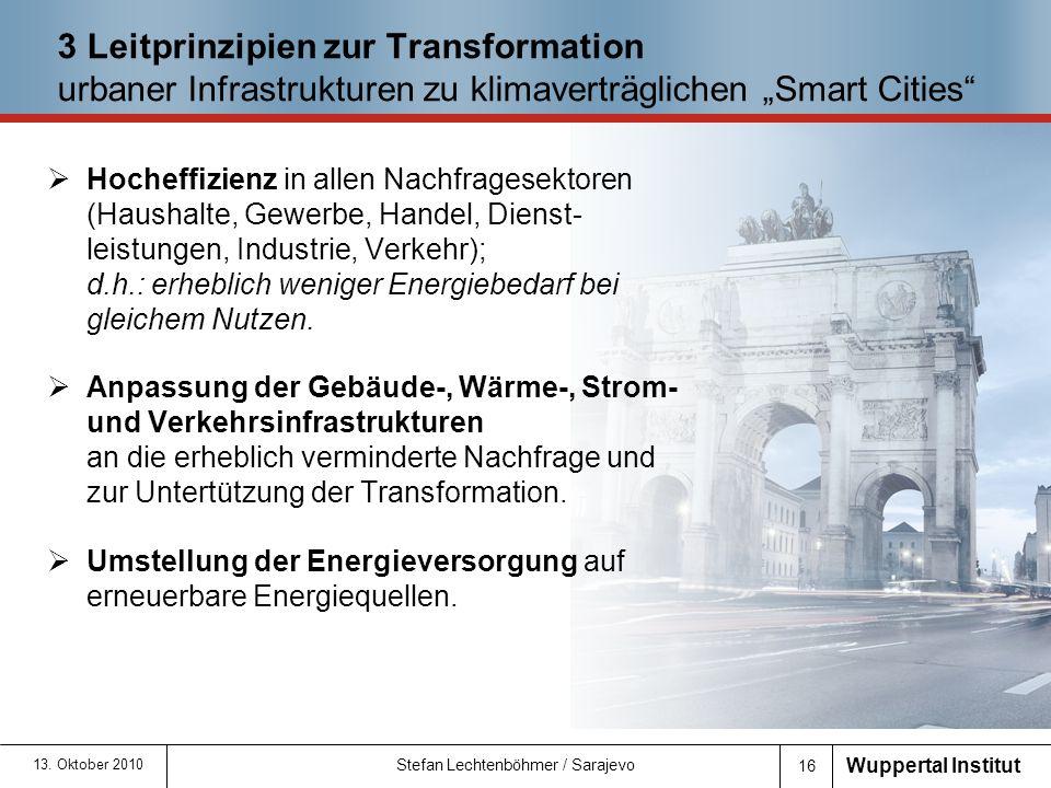 """3 Leitprinzipien zur Transformation urbaner Infrastrukturen zu klimaverträglichen """"Smart Cities"""
