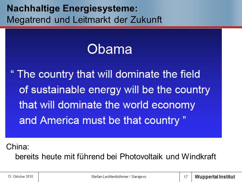 Nachhaltige Energiesysteme: Megatrend und Leitmarkt der Zukunft