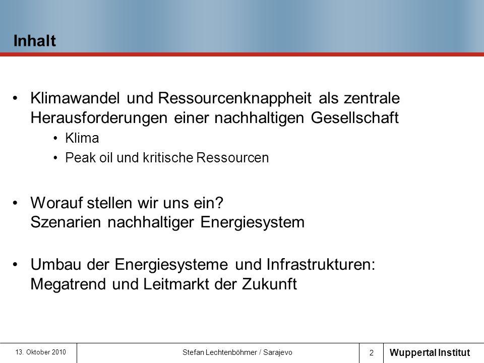 Worauf stellen wir uns ein Szenarien nachhaltiger Energiesystem