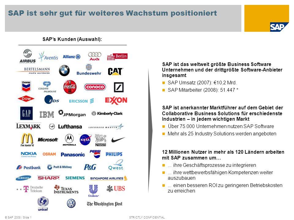 SAP ist sehr gut für weiteres Wachstum positioniert