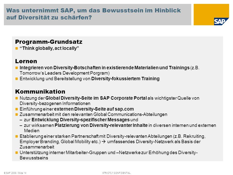 Was unternimmt SAP, um das Bewusstsein im Hinblick auf Diversität zu schärfen
