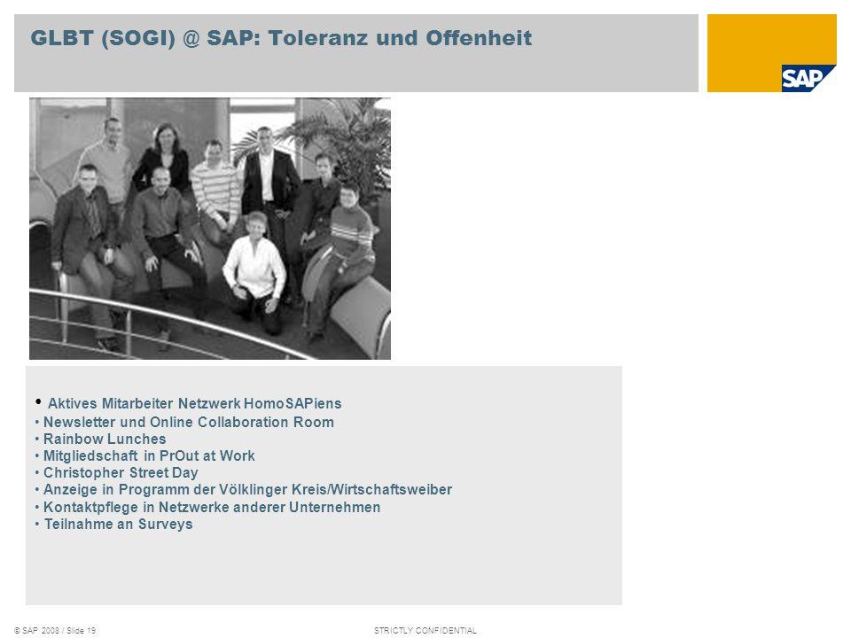 GLBT (SOGI) @ SAP: Toleranz und Offenheit