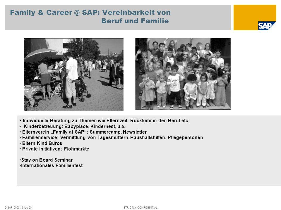 Family & Career @ SAP: Vereinbarkeit von Beruf und Familie