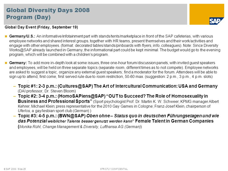 Global Diversity Days 2008 Program (Day)