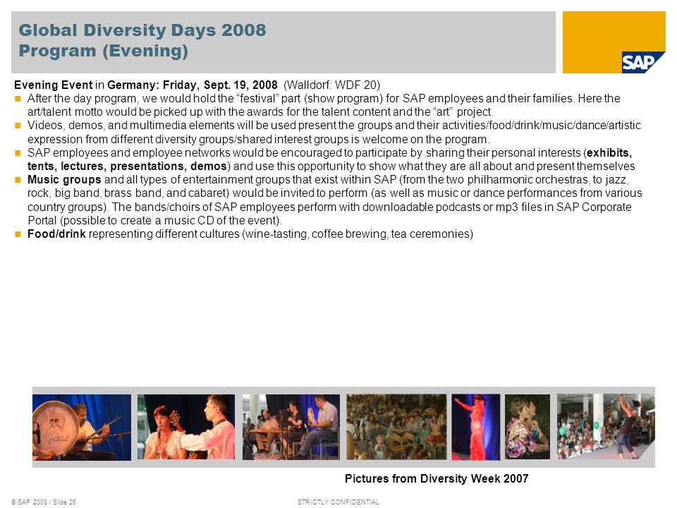 Global Diversity Days 2008 Program (Evening)
