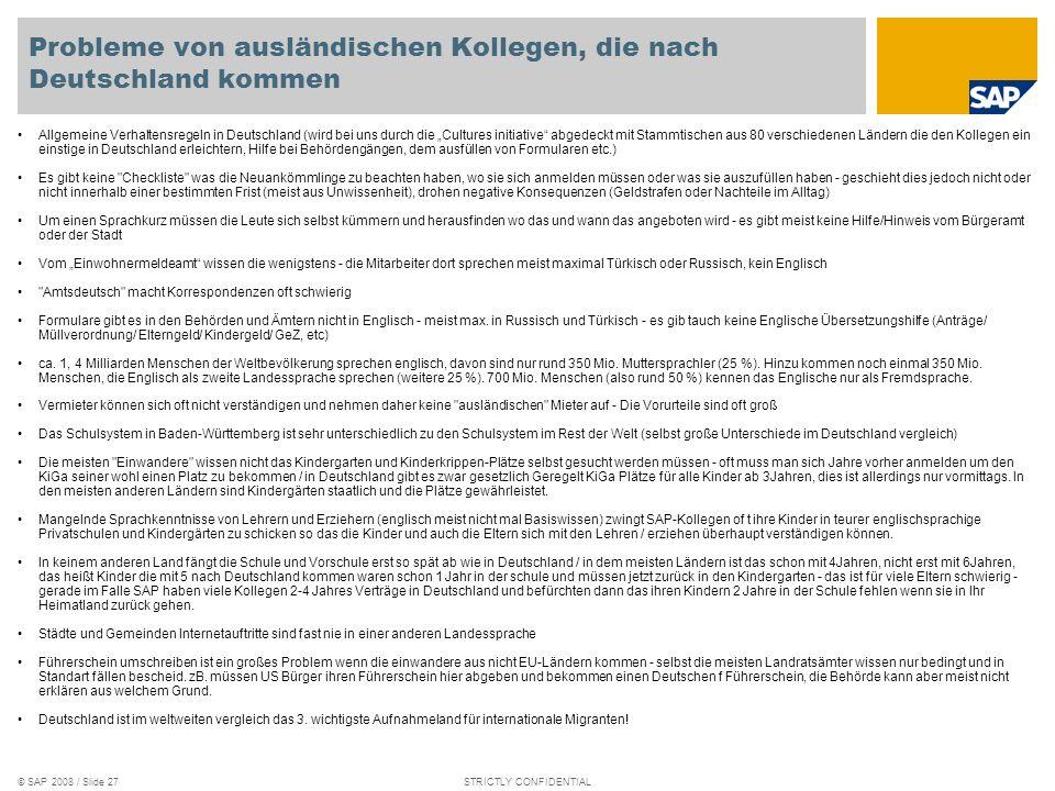Probleme von ausländischen Kollegen, die nach Deutschland kommen