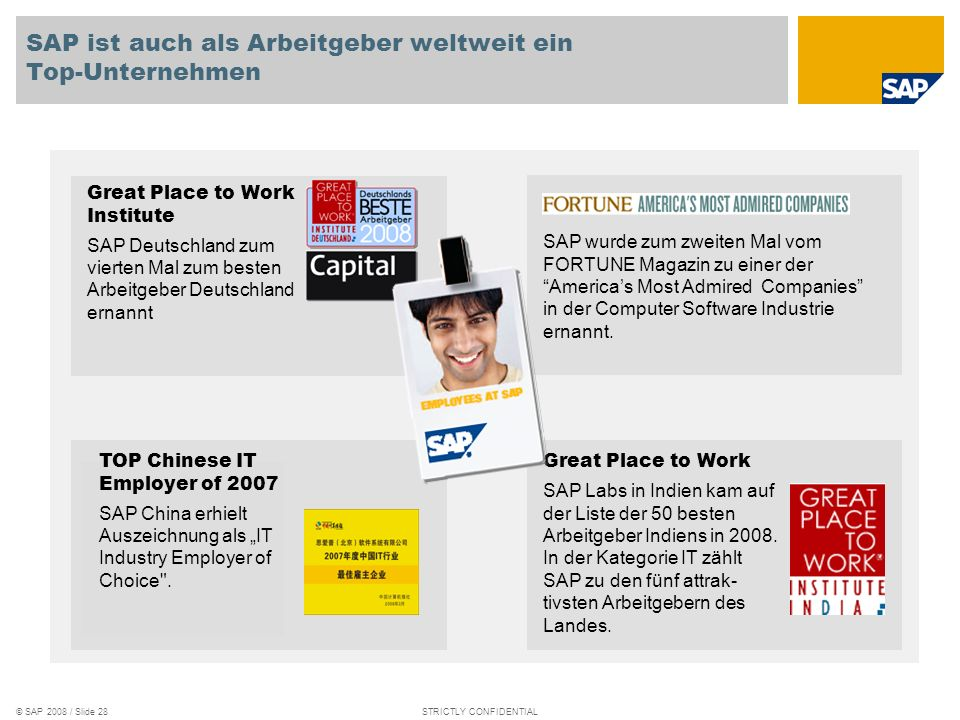 SAP ist auch als Arbeitgeber weltweit ein Top-Unternehmen