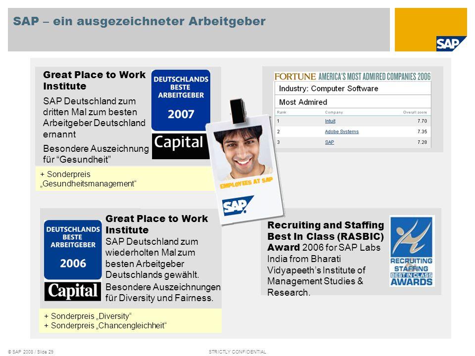 SAP – ein ausgezeichneter Arbeitgeber