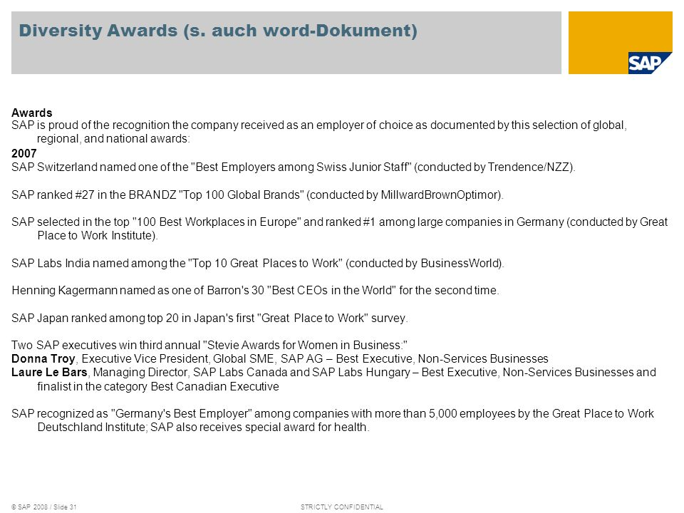 Diversity Awards (s. auch word-Dokument)