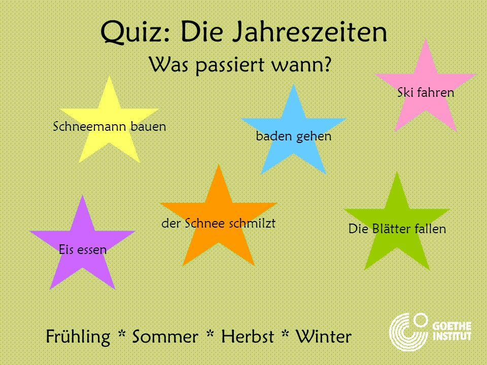 Quiz: Die Jahreszeiten