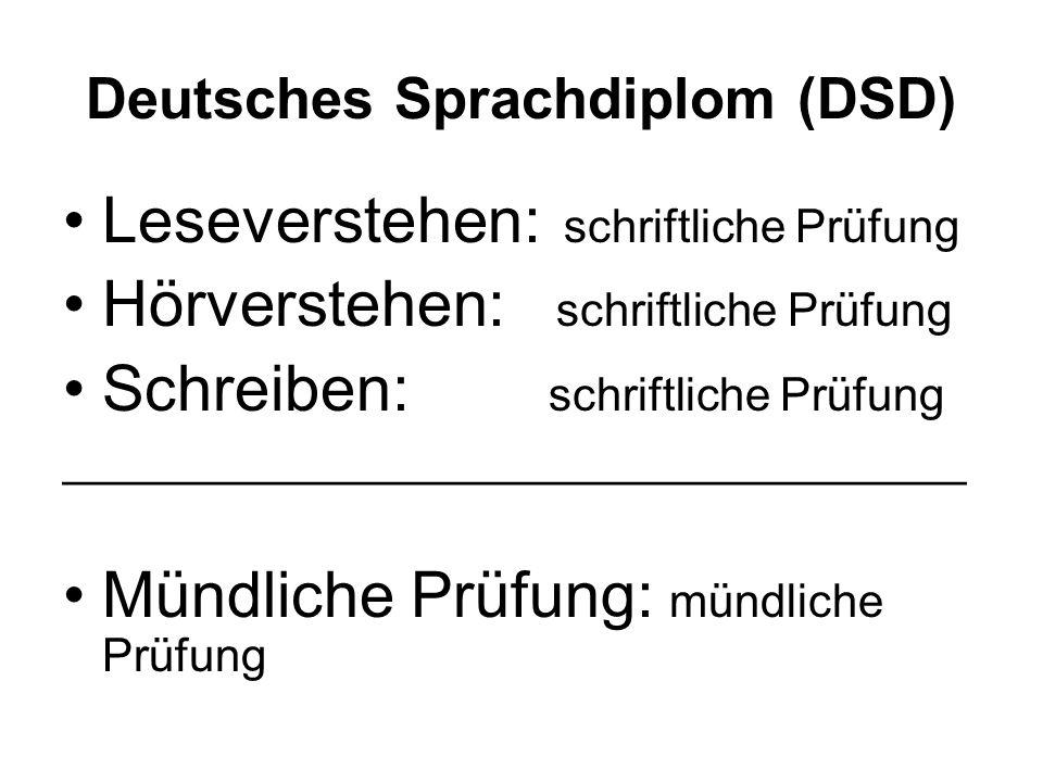 Deutsches Sprachdiplom (DSD)