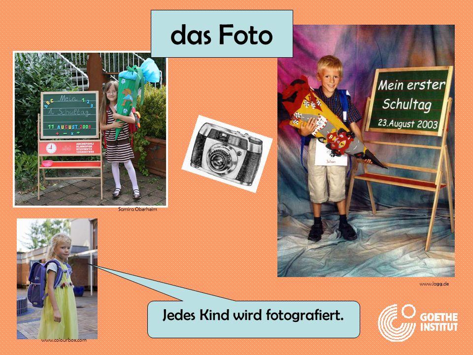Jedes Kind wird fotografiert.