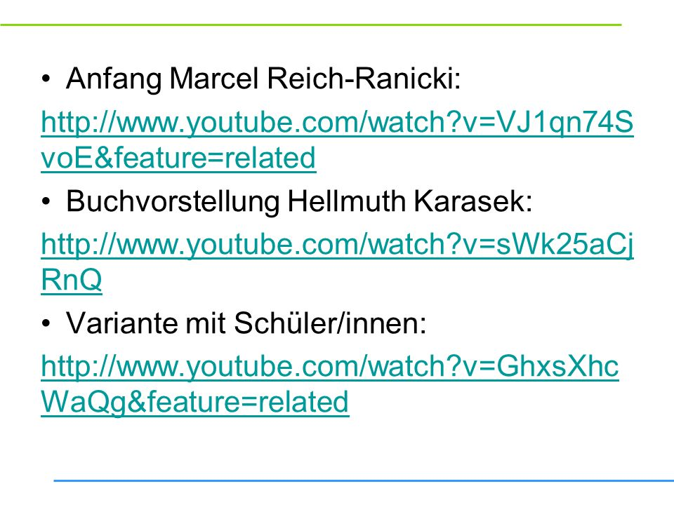 Anfang Marcel Reich-Ranicki: