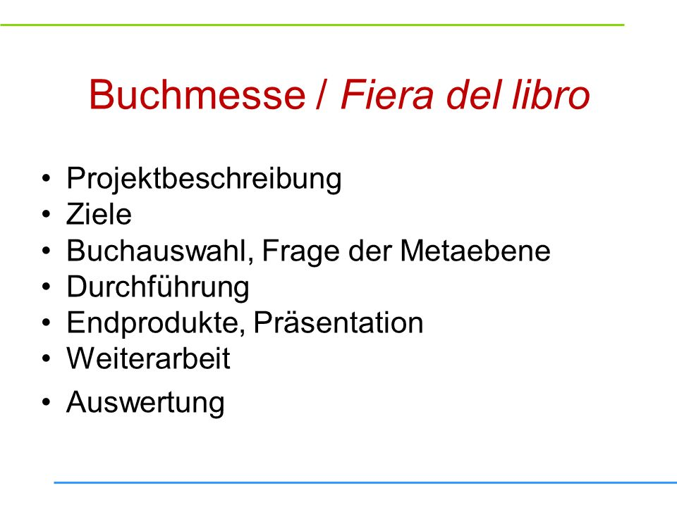 Buchmesse / Fiera del libro
